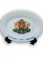 Чиния с герба на България