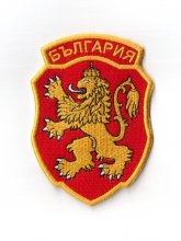 Български лъв на червен щит - нашивка