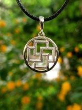 Затворена свастика - медальон