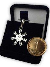 Розета от Плиска - сребро миниатюра